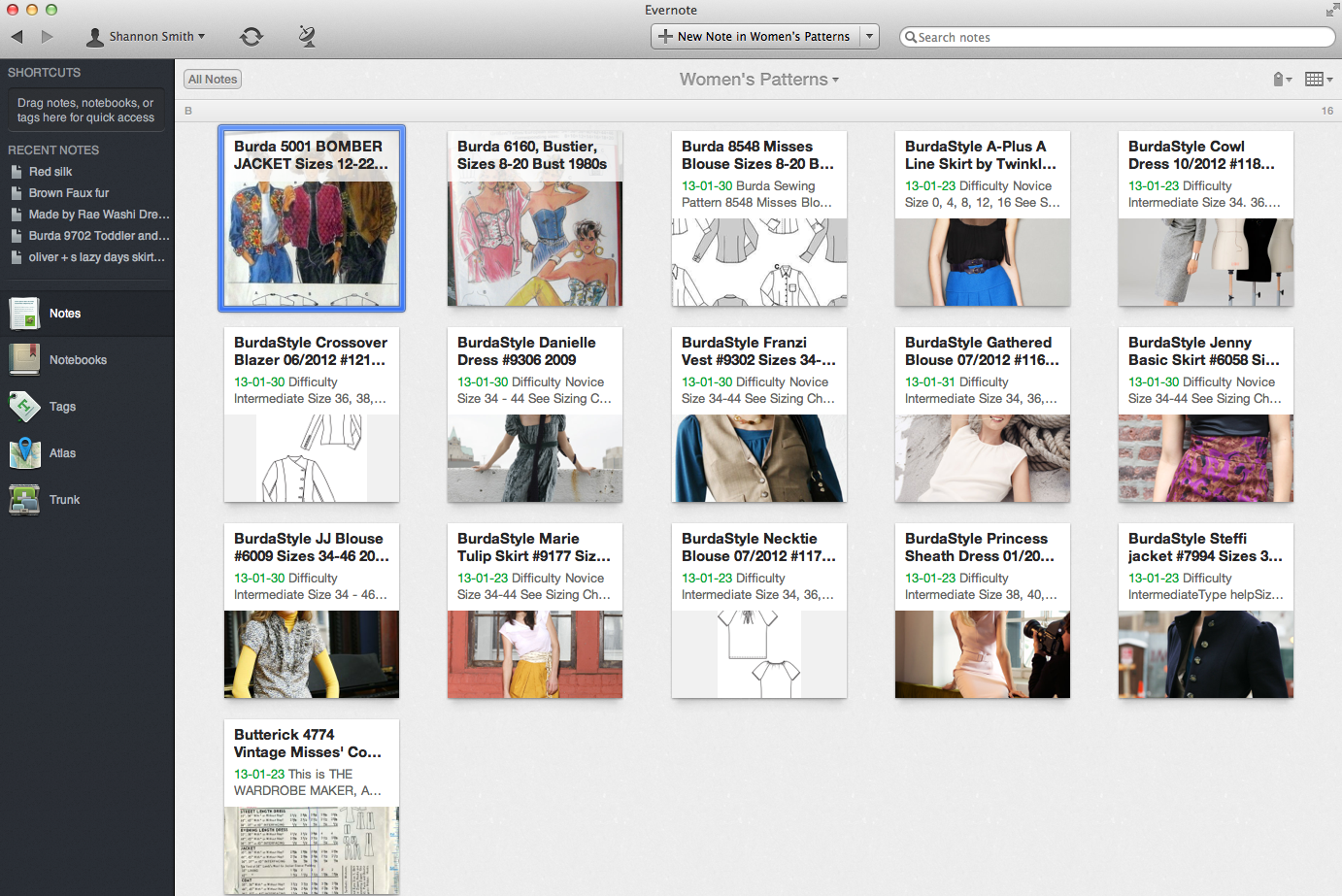 How I Organized My Growing Hoard of Sewing Patterns ; A Software ...