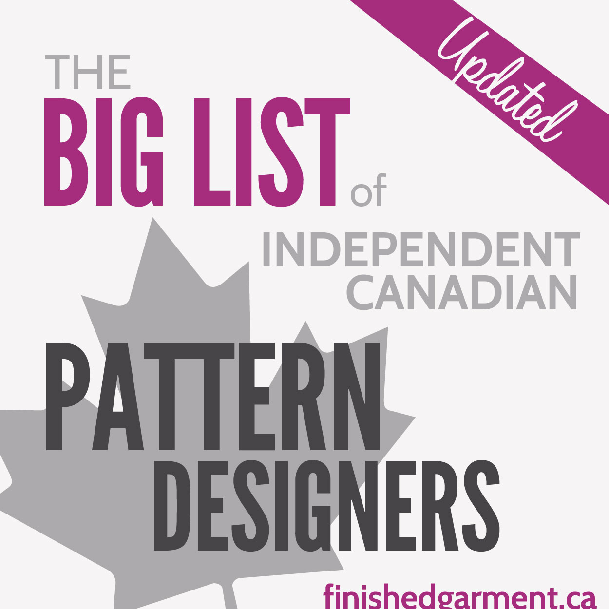 The Big List of Independent Canadian Pattern Designers - The ...