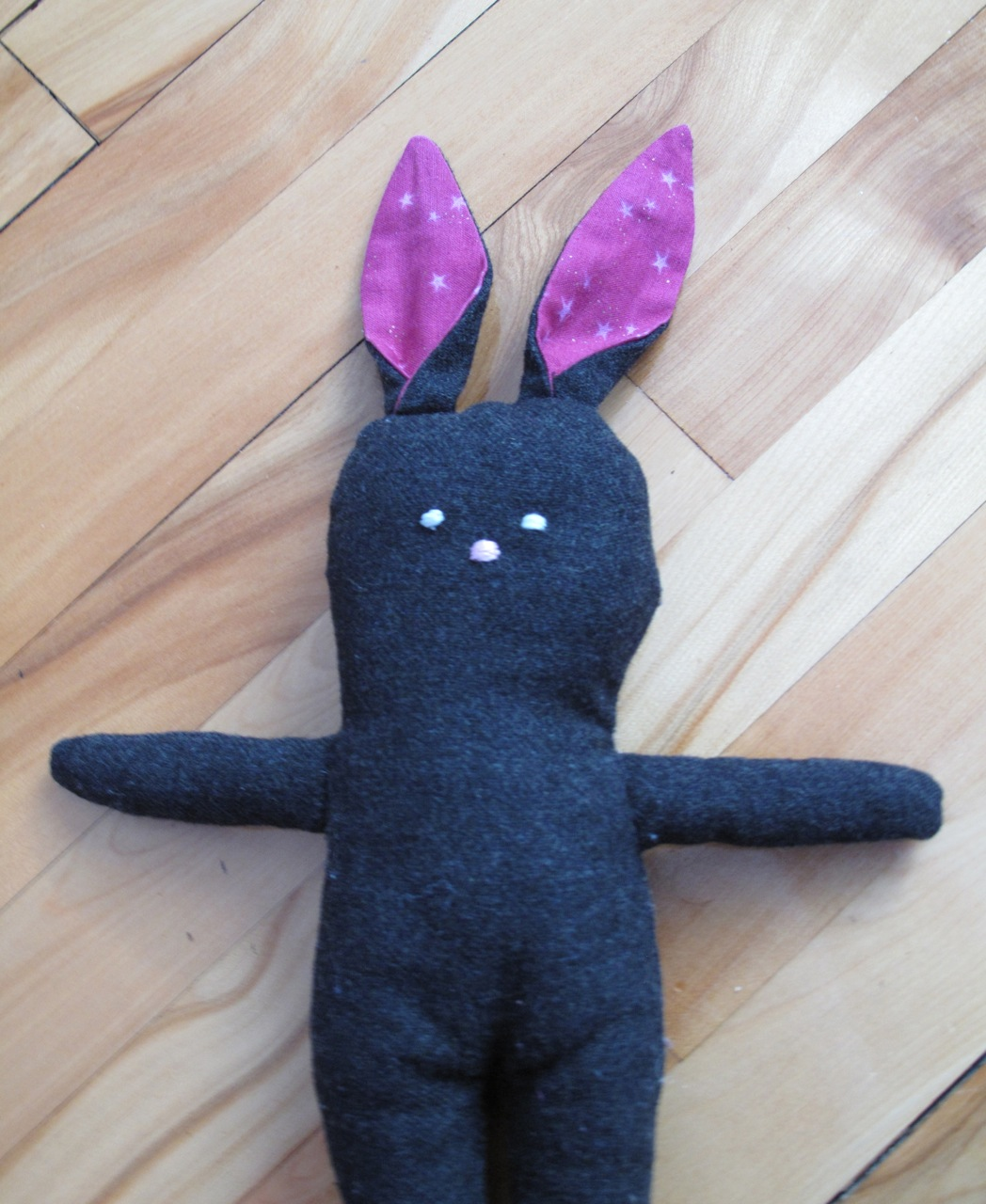 Pink Stuffed Menswear Bunny