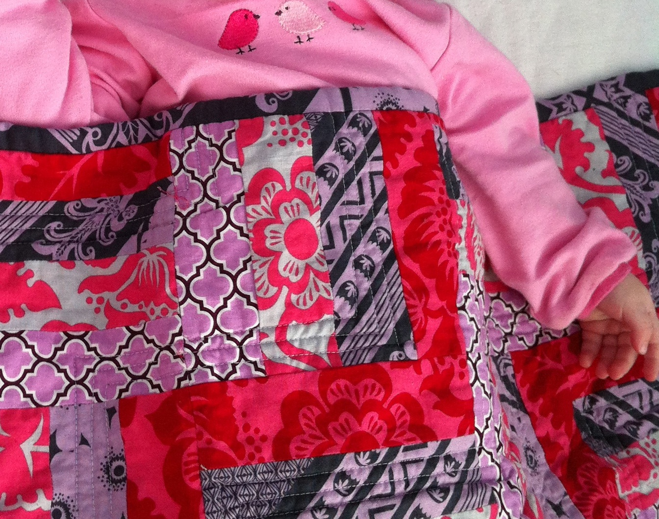 My First Quilt – The Pink Rails Quilt