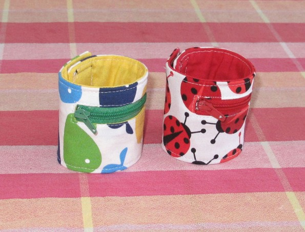 Two cuffs in whales and ladybugs.