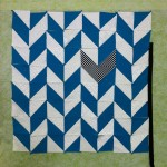 Herringbone quilt on the design board.