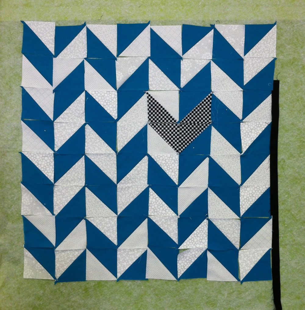 Herringbone Quilt – Work In Progress