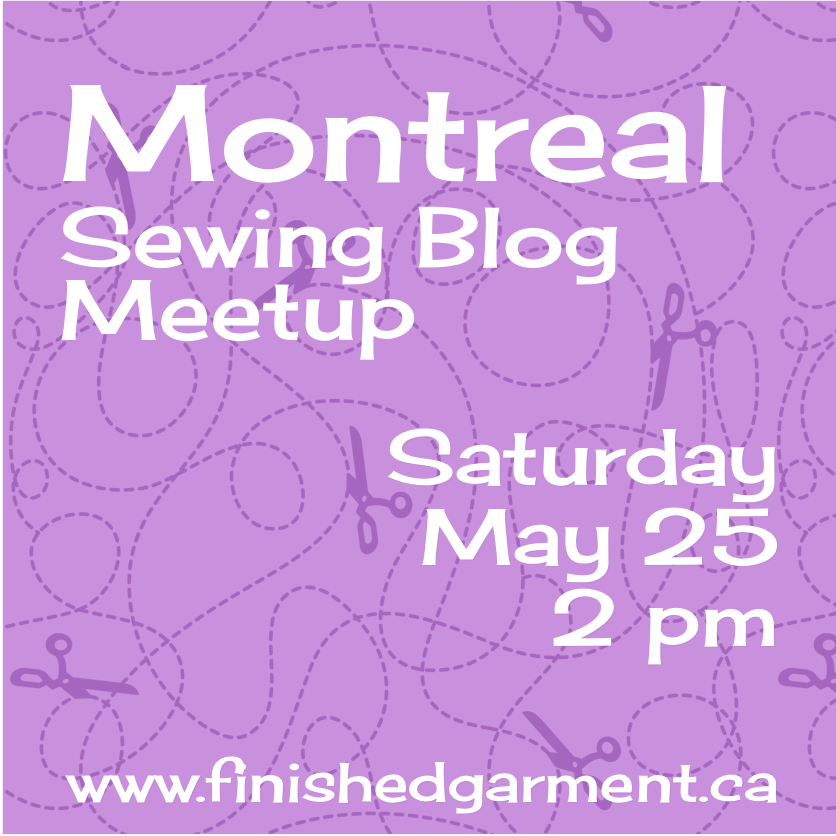 Montreal Sewing Meetup on Saturday