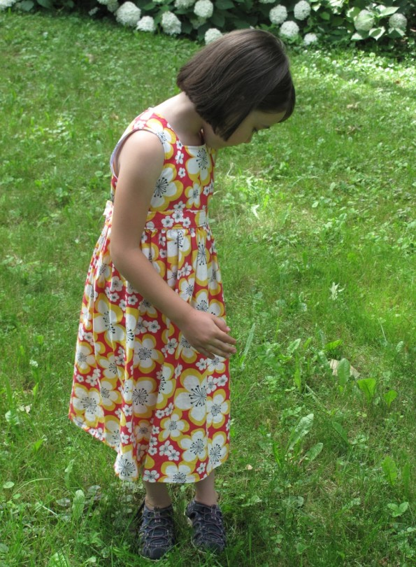 This dress works really well with a big print and it's comfortable for the summer.