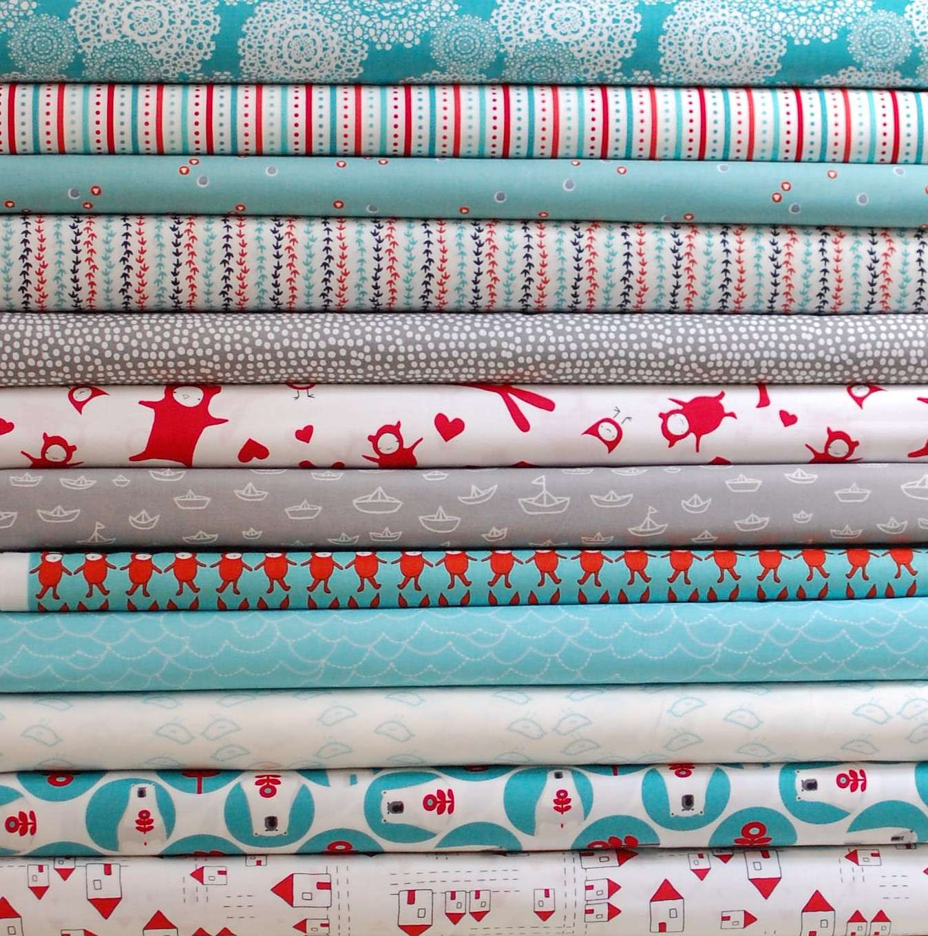 My First Fabric Bundle: Snow Day