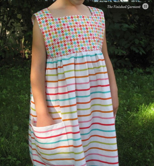 Sally Dress Sewing Pattern sewn by The Finished Garment.