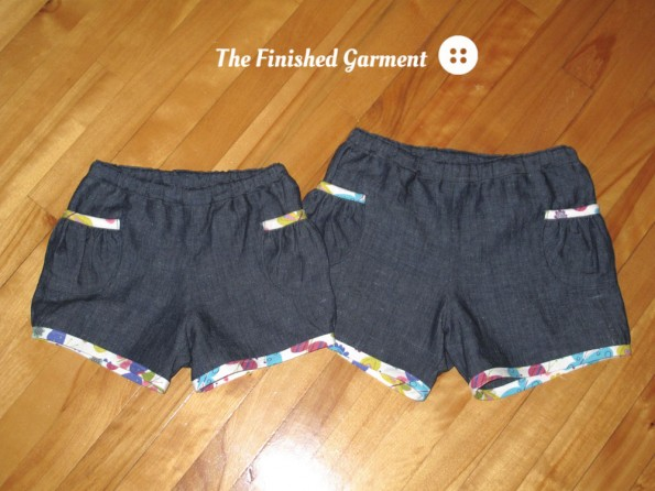 Oliver + S Puppet Show Shorts sewn by The Finished Garment.