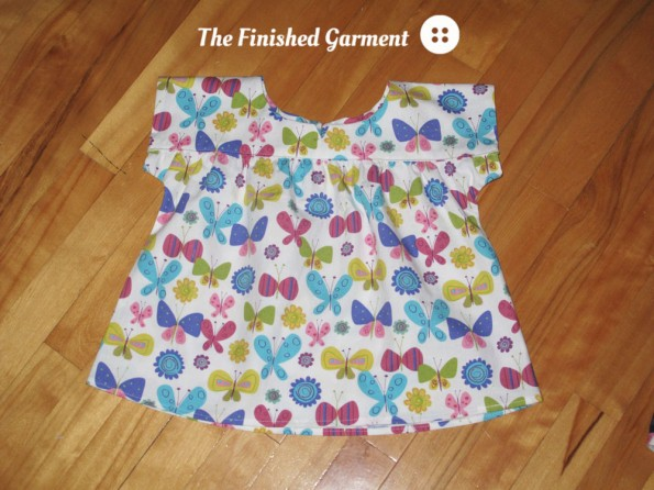 Oliver + S Ice Cream Dress (as top) sewn by The Finished Garment.