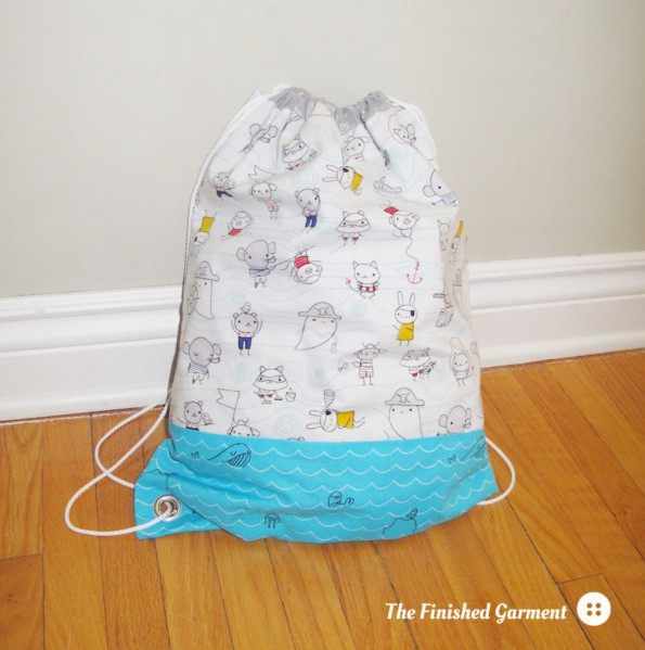 The Jeni Gym Bag sewing pattern by I'm A GingerMonkey, sewn by The Finished Garment