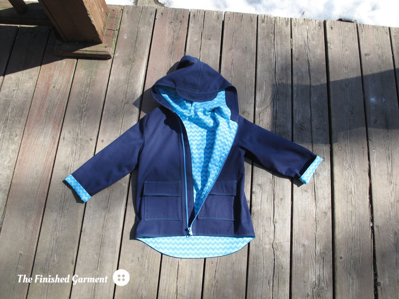The Spring Showers Jacket sewing pattern by Elegance & Elephants, as sewn by The Finished Garment.