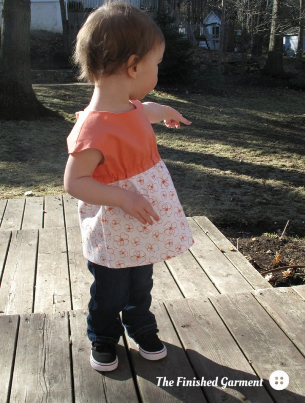 The Roller Skate Tunic sewing pattern by Oliver + S, sewn by The Finished Garment.