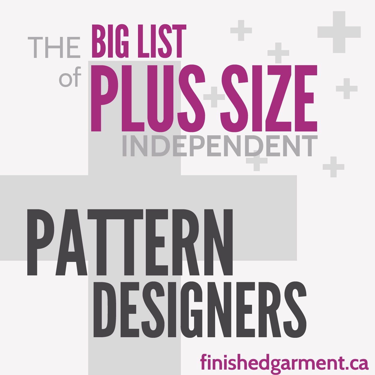 The Big List of Plus Size Independent Pattern Designers