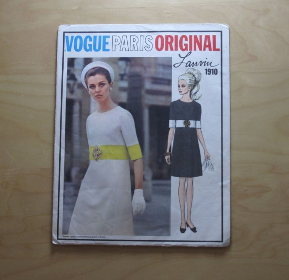 Vogue 1910 Vogue Paris Original Lanvin - Misses One-Piece Dress