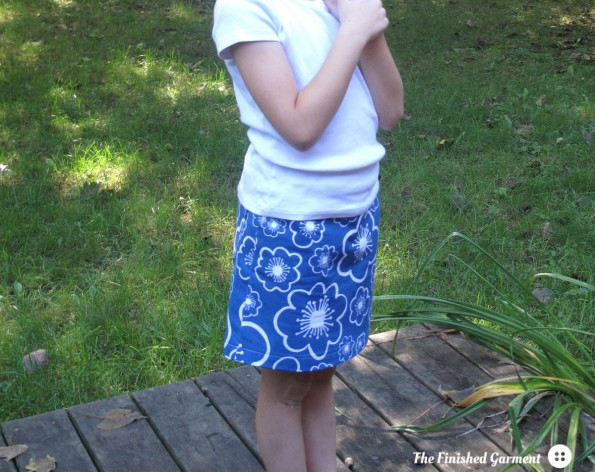 The Sunday Brunch A-line Skirt sewing pattern by Oliver + S, as sewn by The Finished Garment