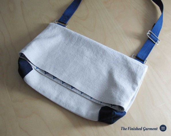 A simple bag from a Japanese pattern book, sewn by The Finished Garment