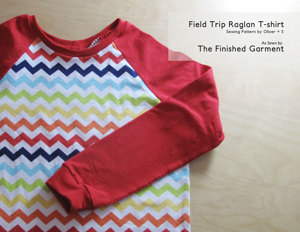 The Field Trip Raglan T-shirt sewing pattern by Oliver + S, as sewn by The Finished Garment.