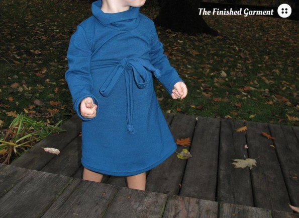 Heidi & Finn Cowl Neck Dress sewing pattern, sewn by The Finished Garment.