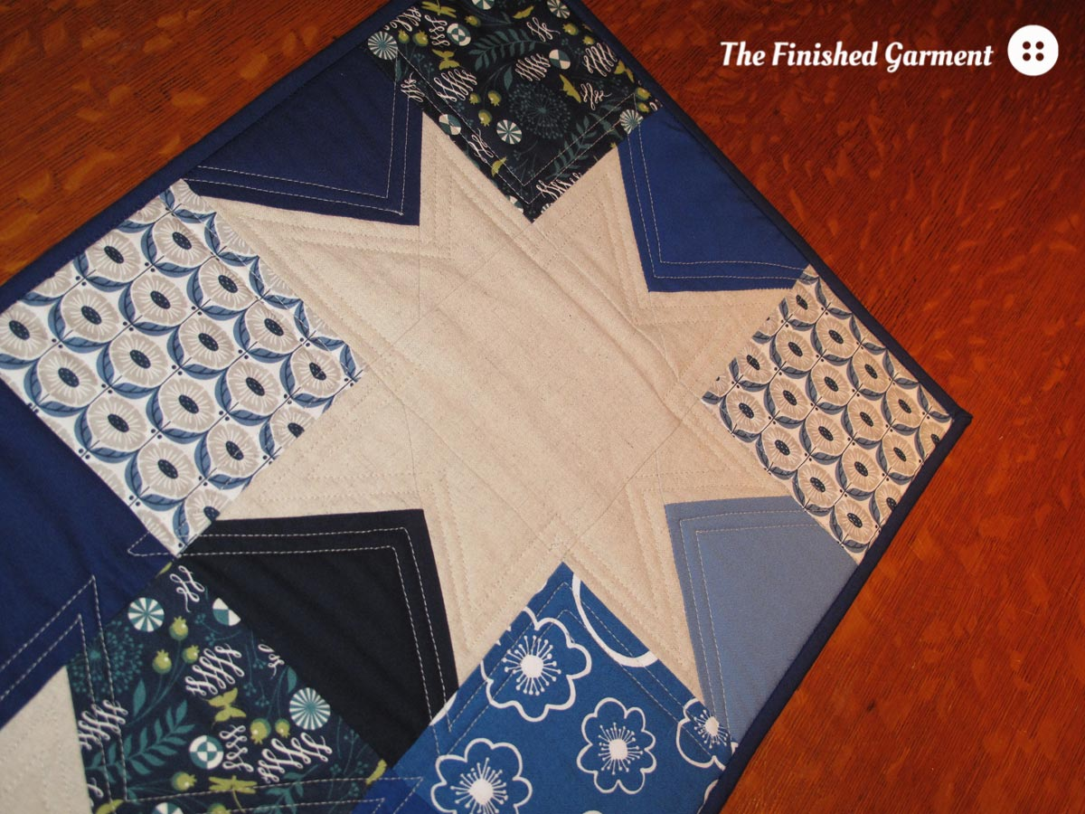 Blue Stars Table Runner