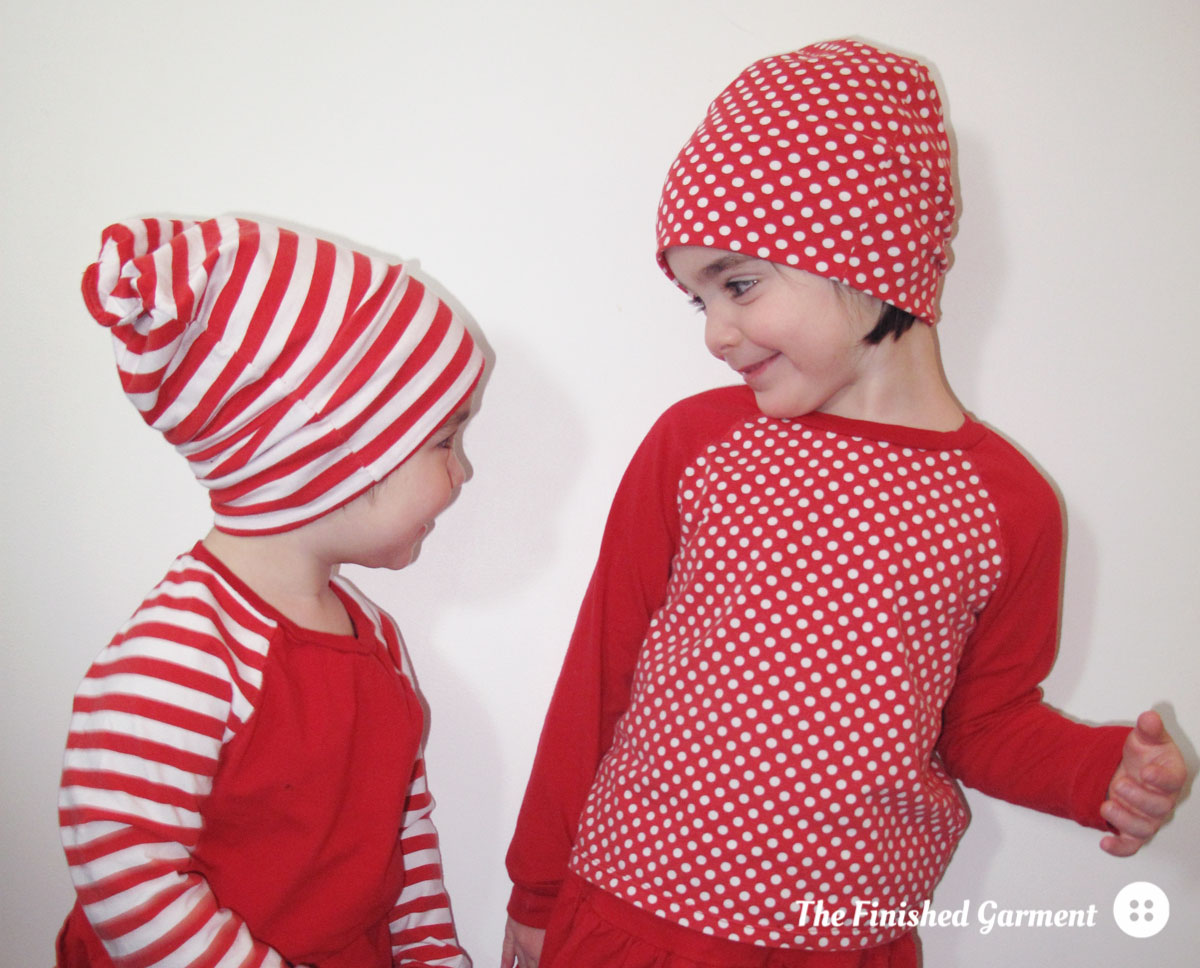 Slouch beanie sewing pattern from Brindille & Twig, sewn by The Finished Garment.