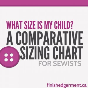 A rough guide to how children's ready-to-wear clothing sizes and US and European sewing pattern sizes match up.