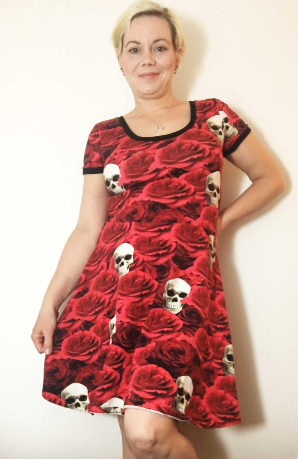 Gothic Skater dress sewn by The Finished Garment
